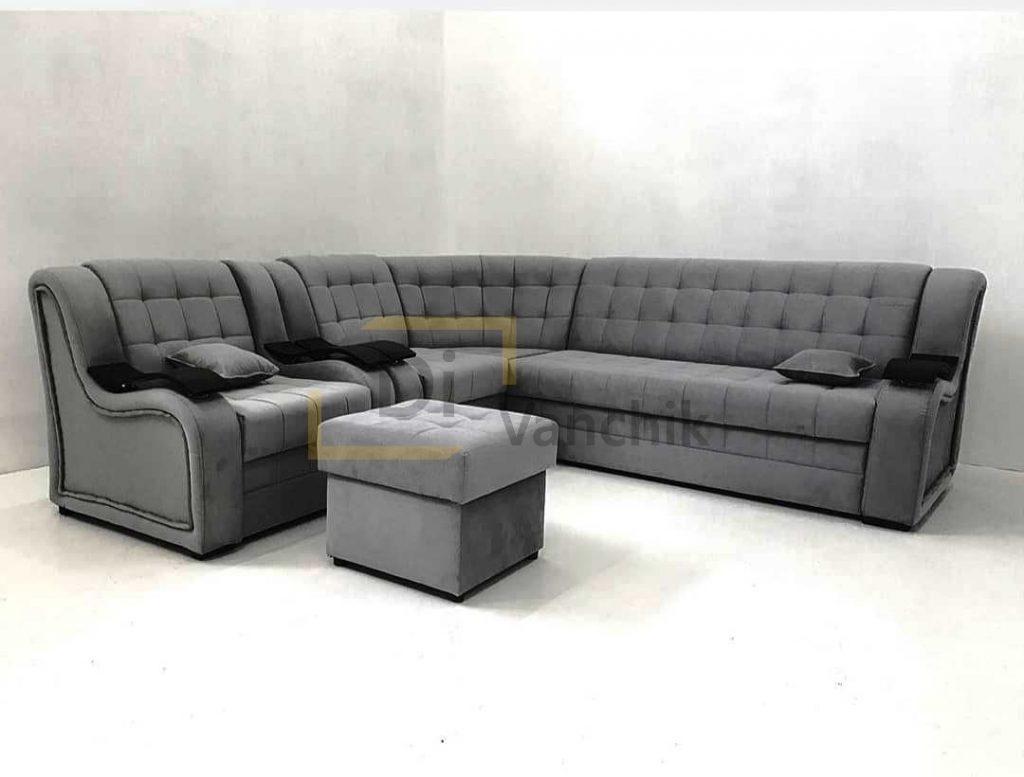 диван хай текс серый