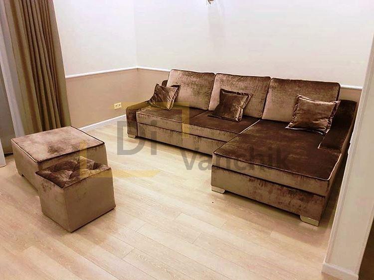 диван угловой с пуфами под заказ