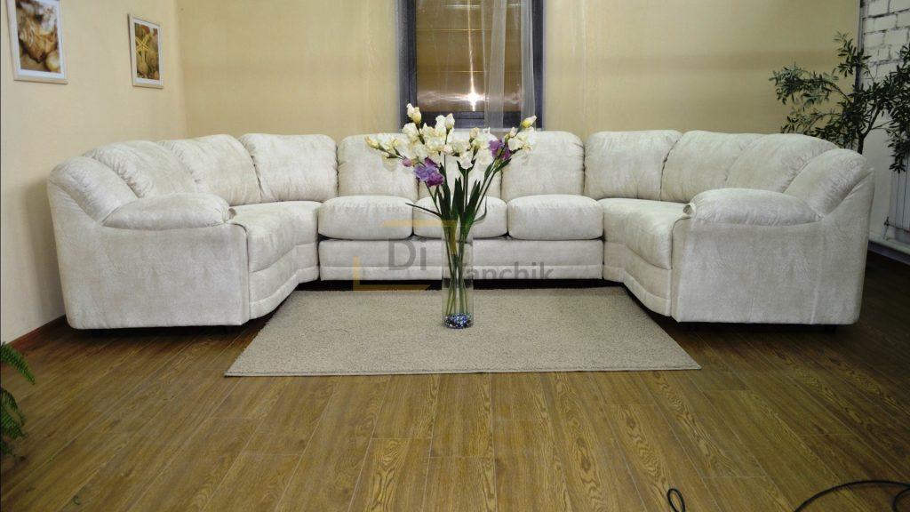 п образный диван на заказ белый