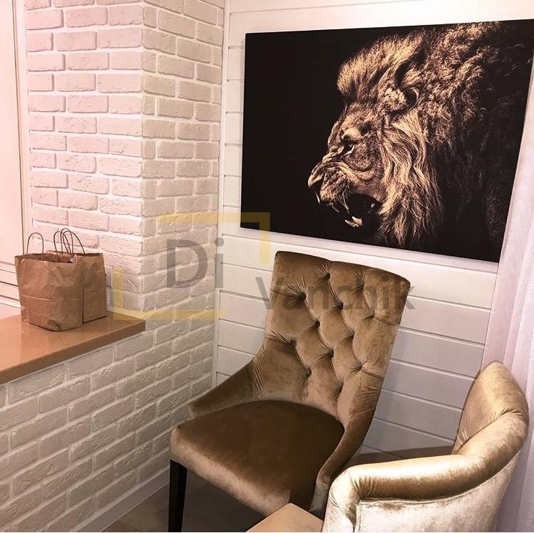 кресло коричнево золотистое