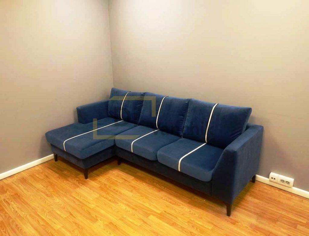 диван угловой с полосами