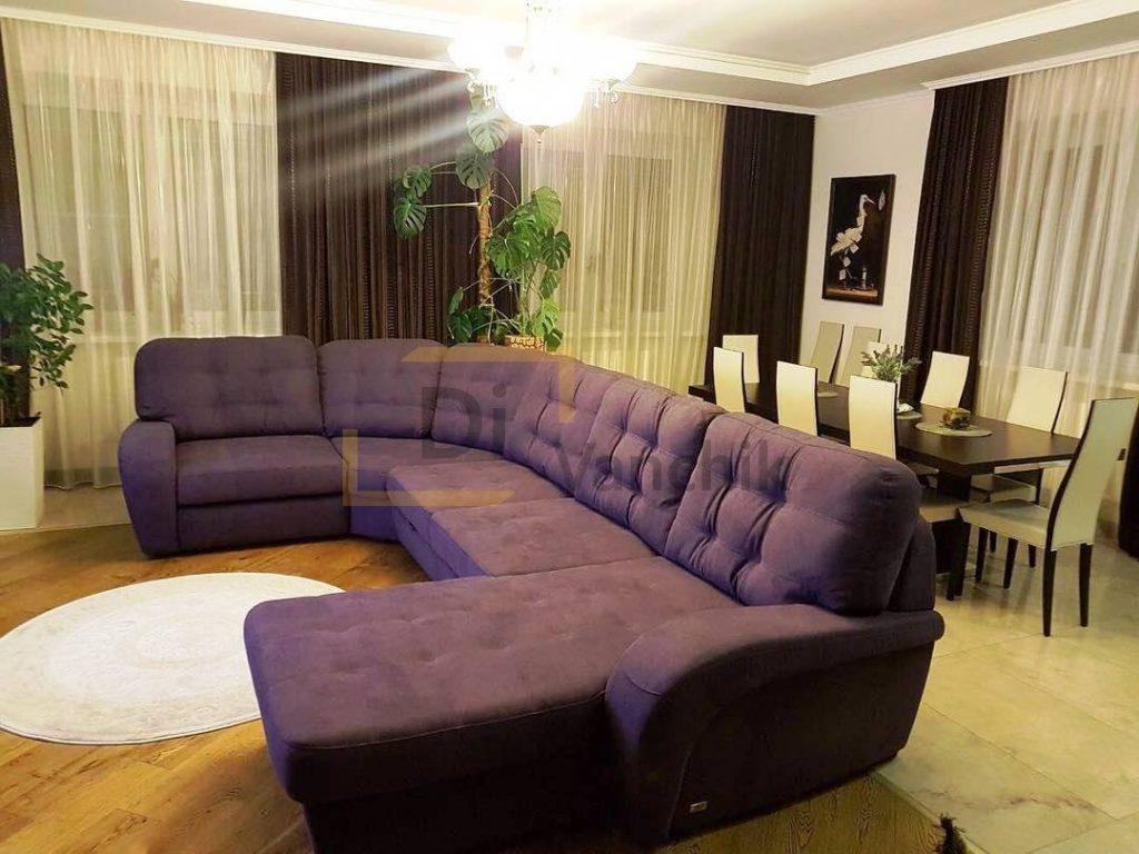 диван фиолетовый на кухню