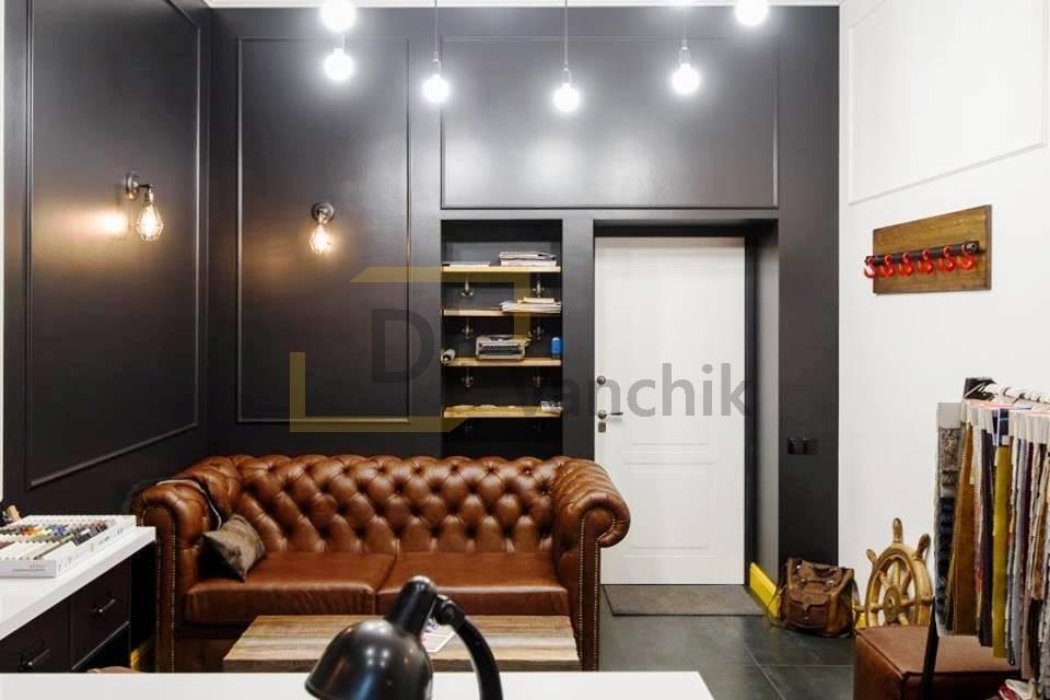 кожаный диван в офис