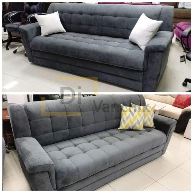 диван прошитый прямой мягкий