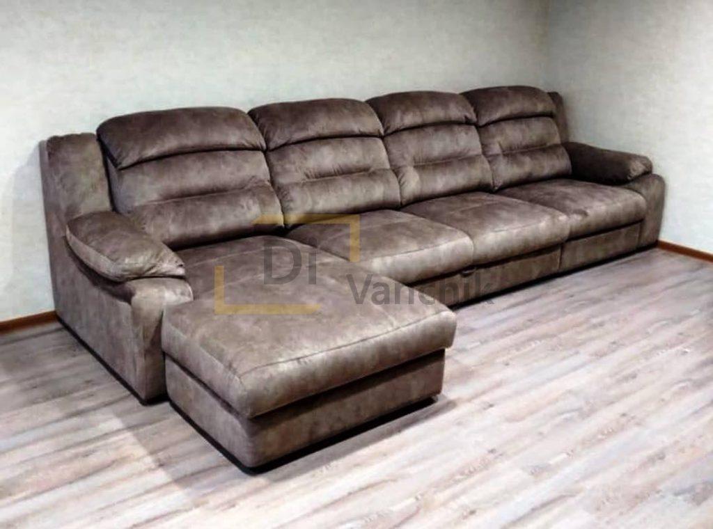 серо светлый угловой диван заказть