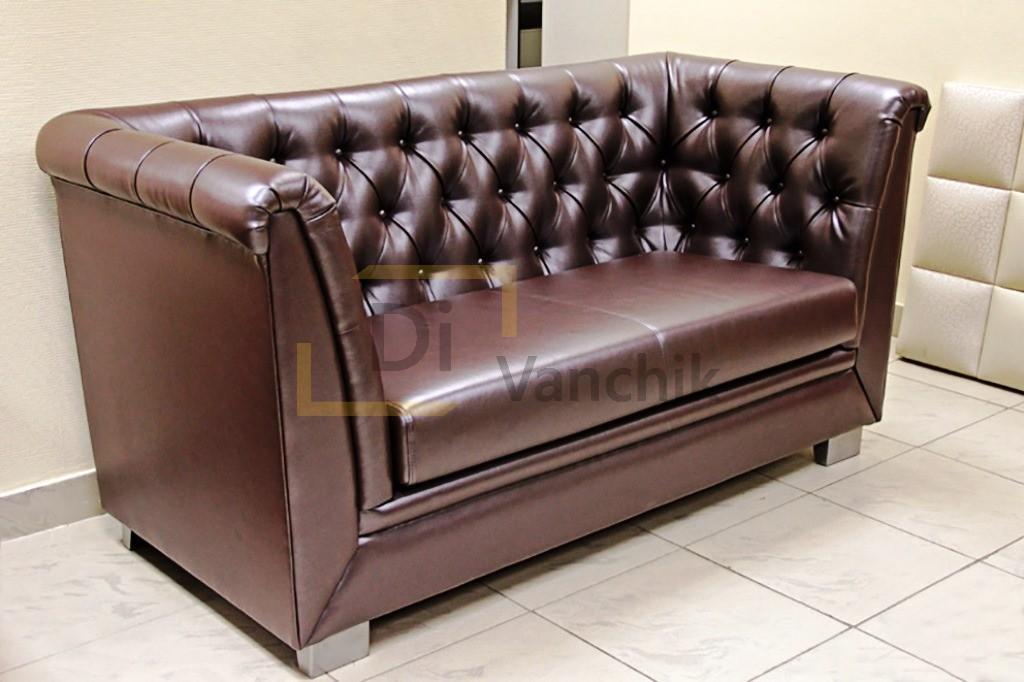 диван в пиковке коричневый дивачник