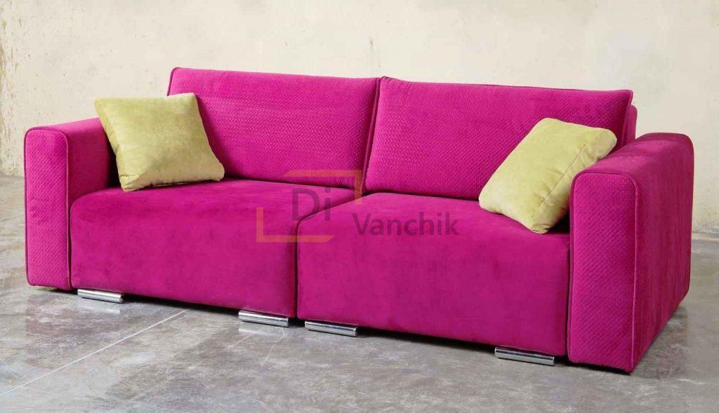 розовый прямой диван для девочки