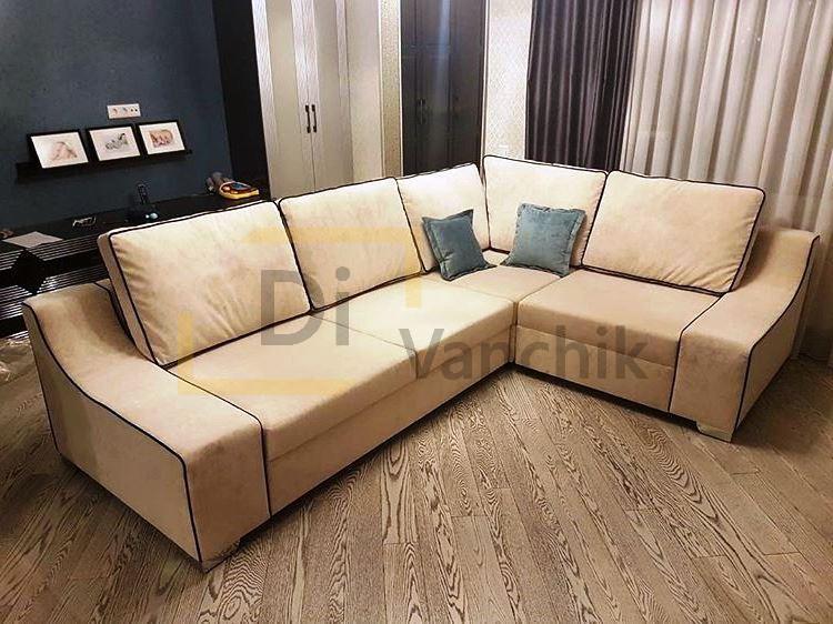 бежевый диван угловой под заказ