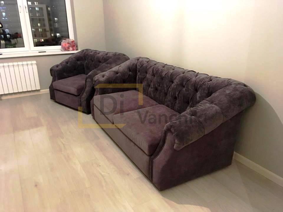 диван и кресло перед телевизором на заказ