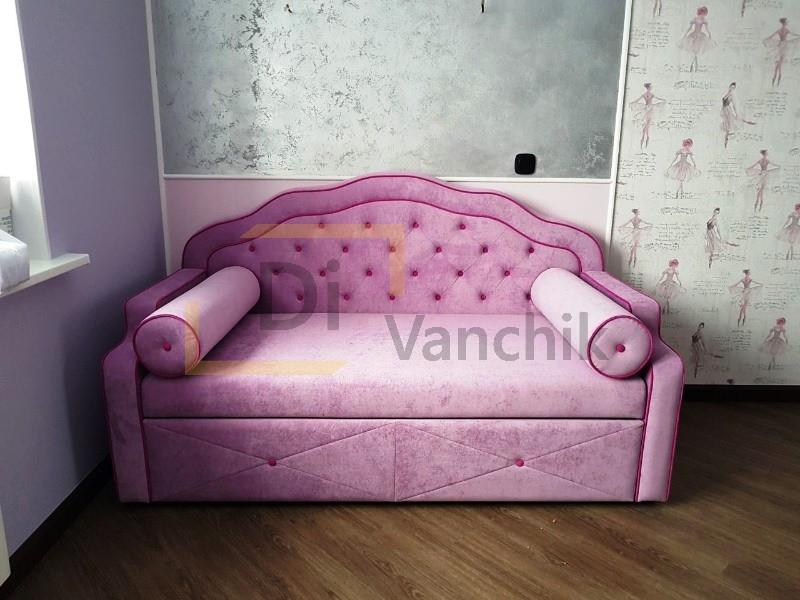 диванчик для девочки розовый