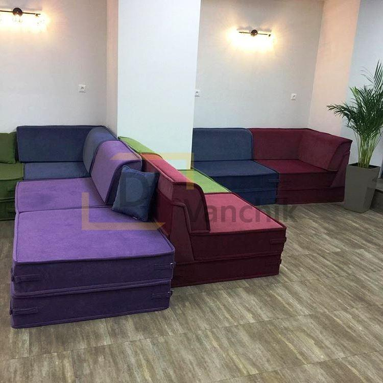 большой мягкий диван с модулей на заказ