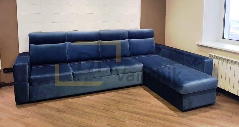 угловой диван в синем цвете от производителя