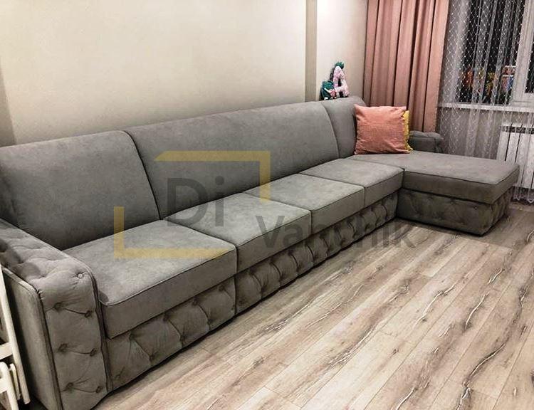 большой угловой диван для компании