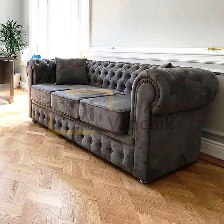 диван честер сейрый для офиса