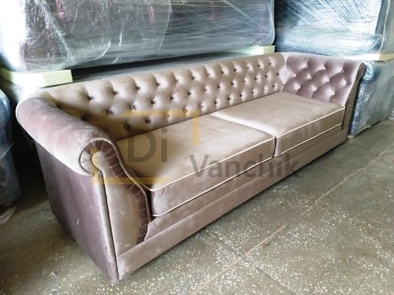 прямой диван в пикове на заказ