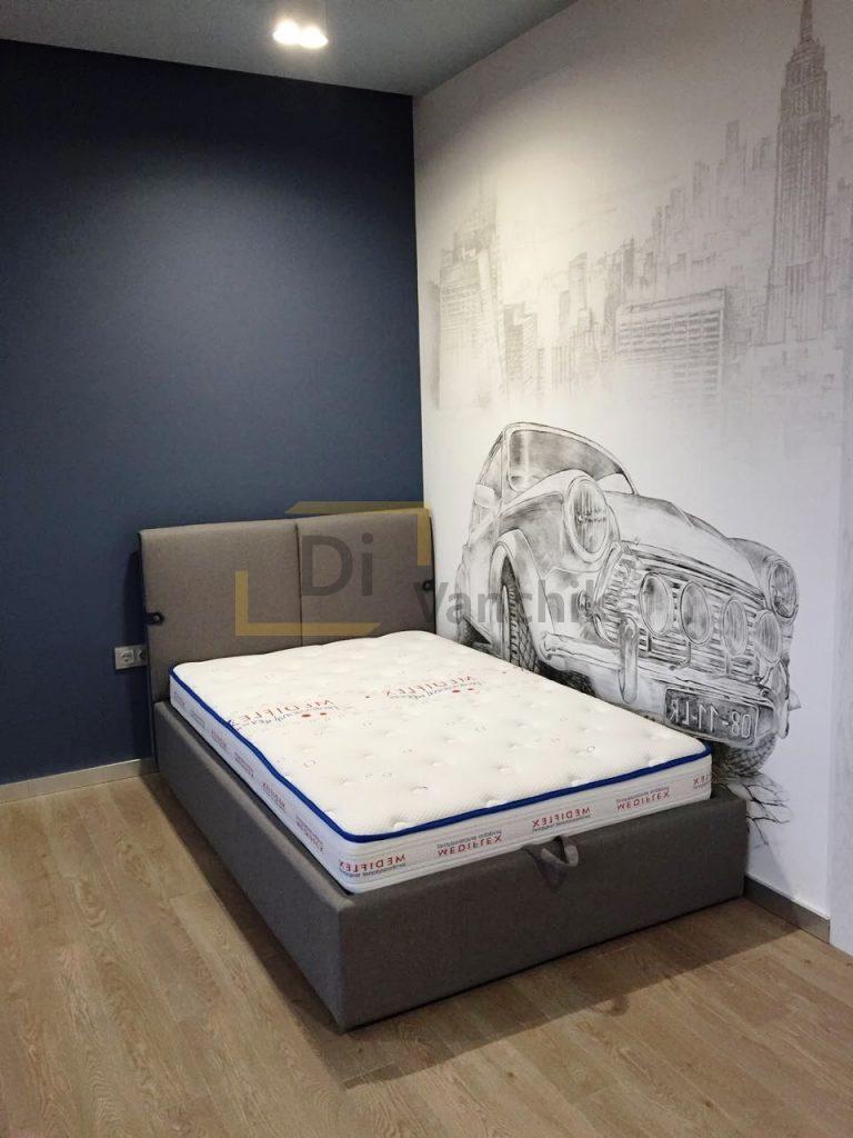 детская кровать мягкая в комнату26