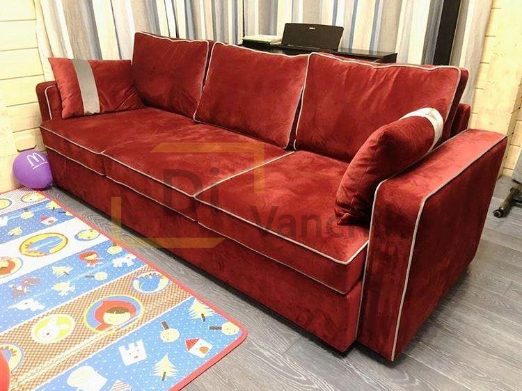 производство красного дивана