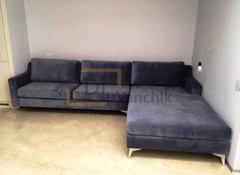 угловой диван в нишу заказать