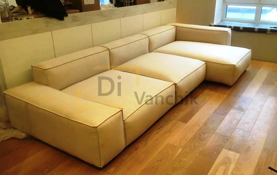 диван белый лаунж изготовление