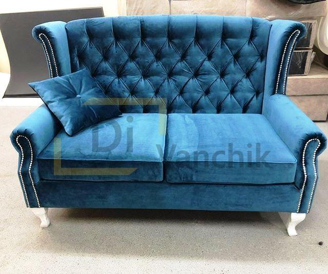купить синий диван в пиковке