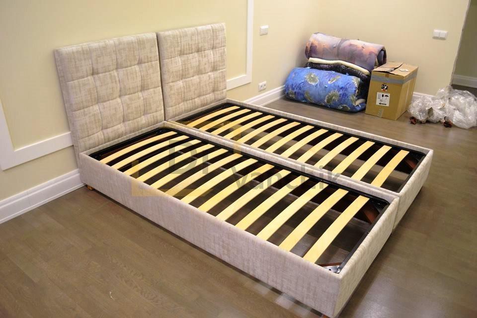 кровать раздельная мягкая