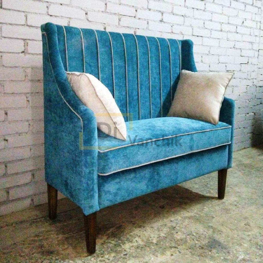 заказать небольшой диван синий