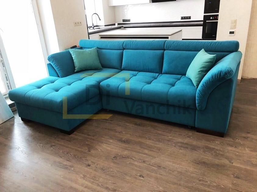 синий диван угловой для кухни на заказ4