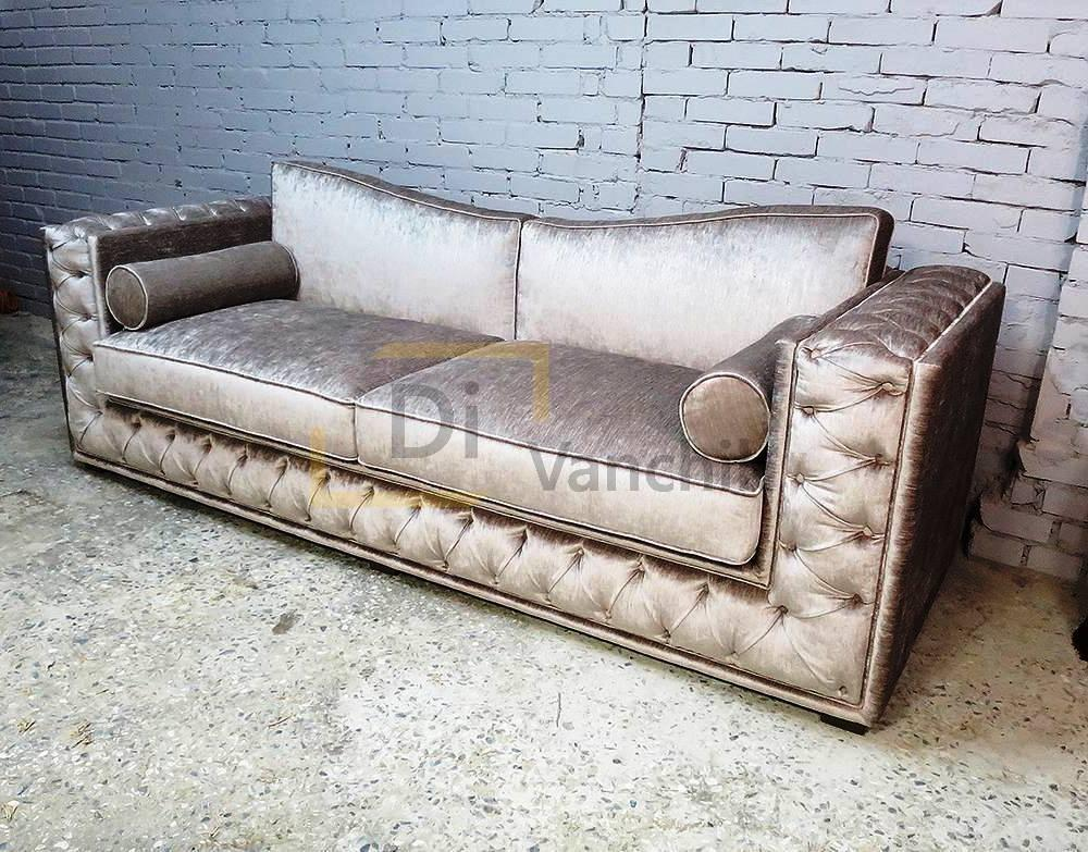 серебристый диван под заказ
