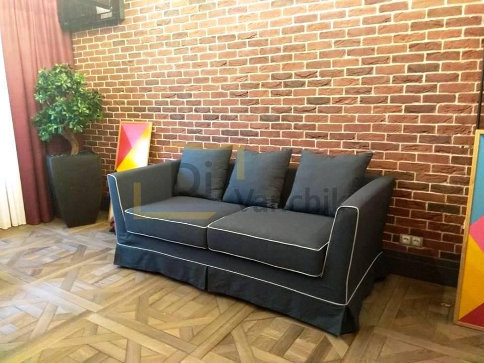 диван с белым кантом небольшой