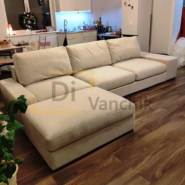 угловой диван для кухни студии