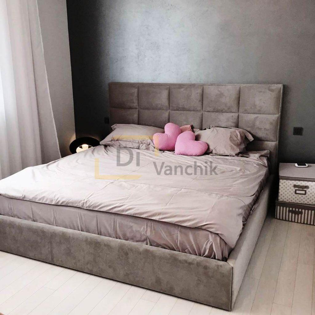 мягкая дизайнерска кровать на заказ