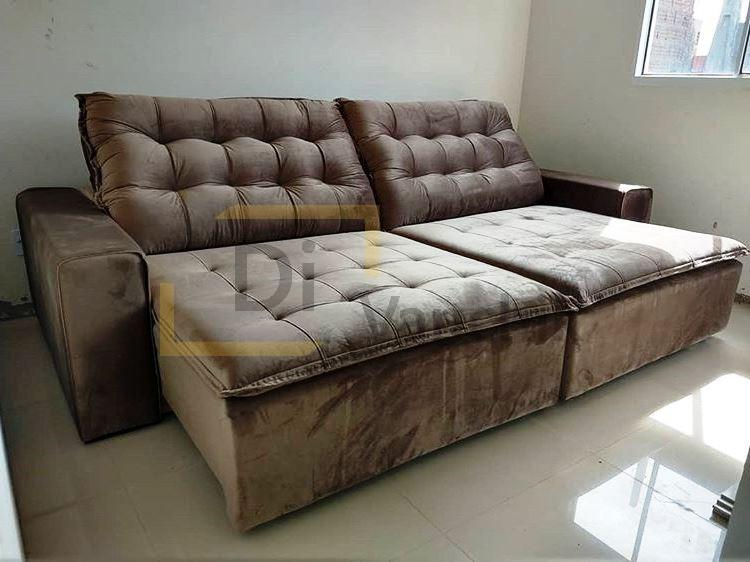мягкий пушистый диван коричневый