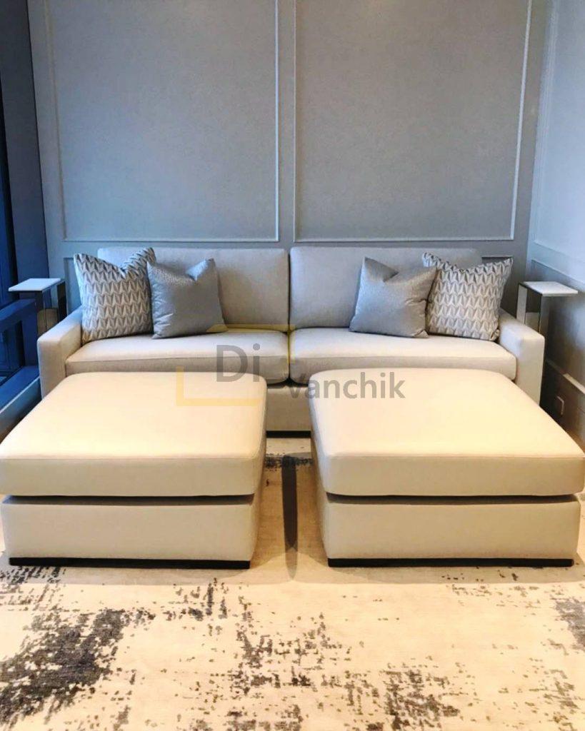 диван и два пуфа на заказ