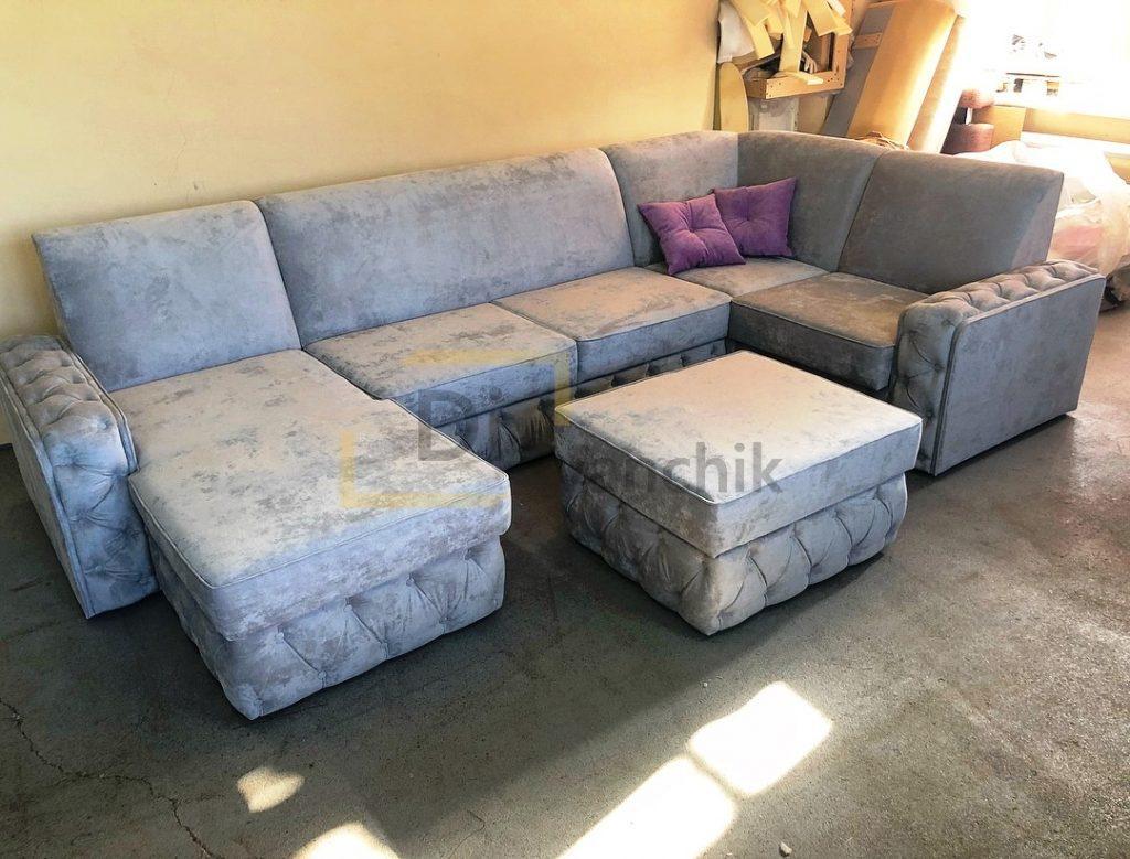 серый диван п образный заказать дорого