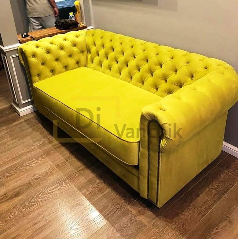 честер диван желтый