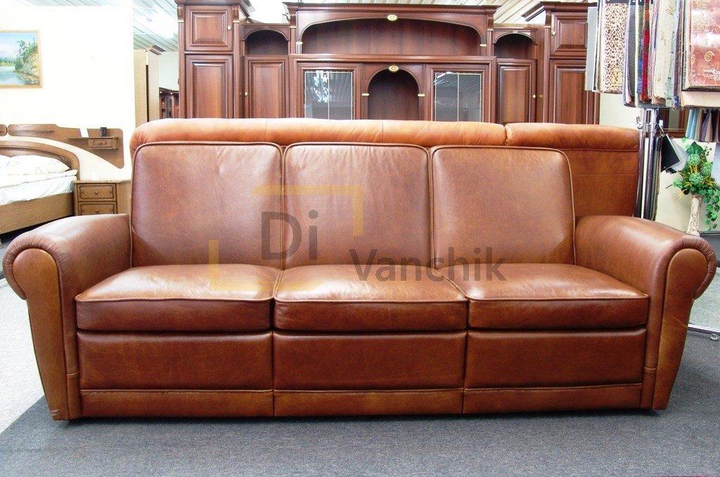 кожаный диван классика купить