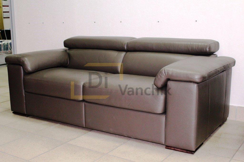 кожаный диван с подушками большими