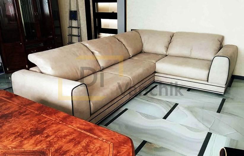 угловой диван из замши заказать