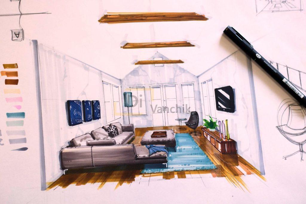 чертеж мягкой мебели