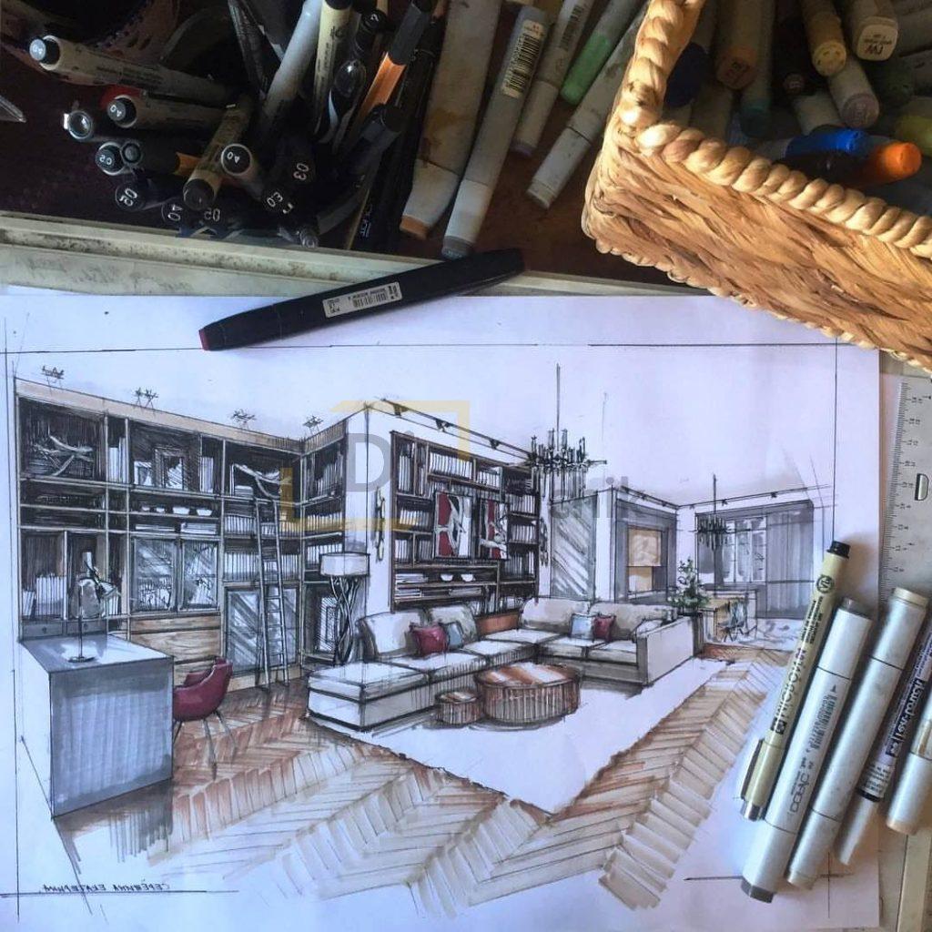 эскиз мягкой мебели на заказ