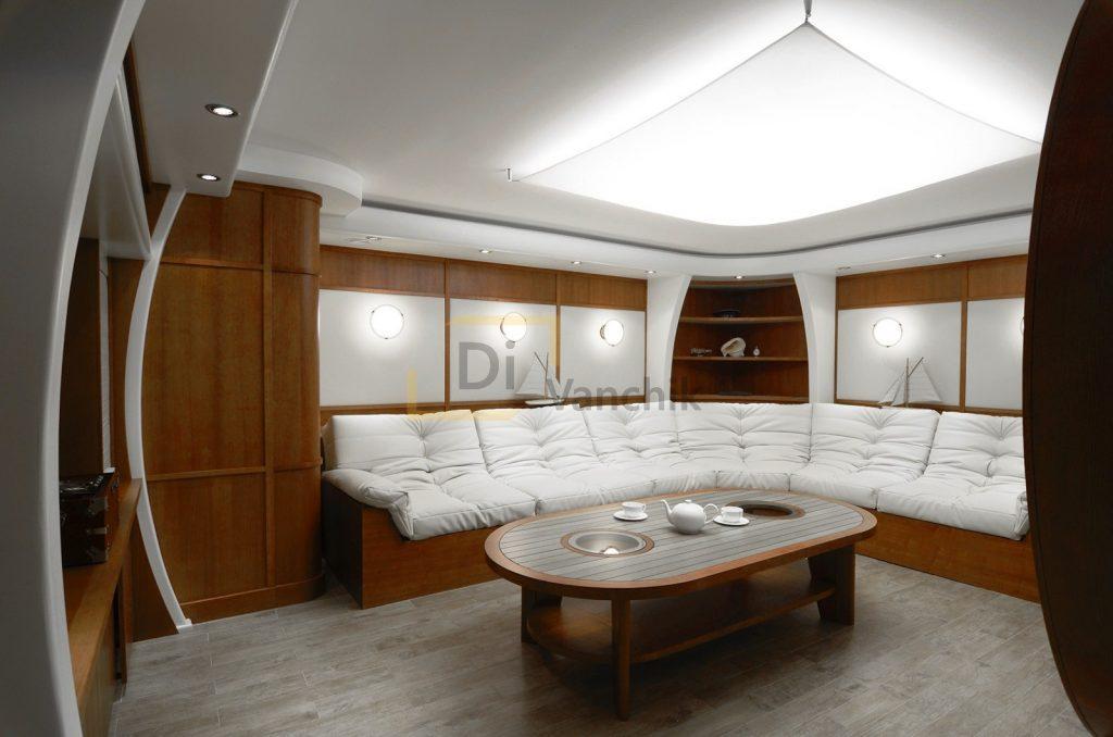 мягкая мебель для яхты под заказ