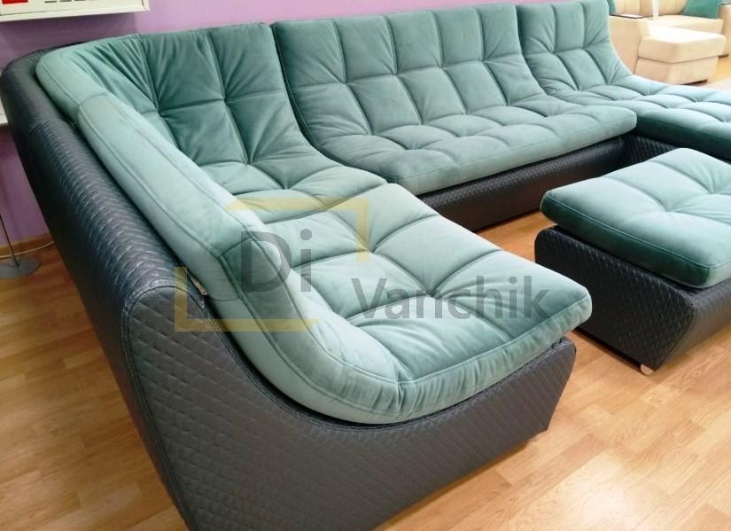 крутой бирюзовый диван на заказ