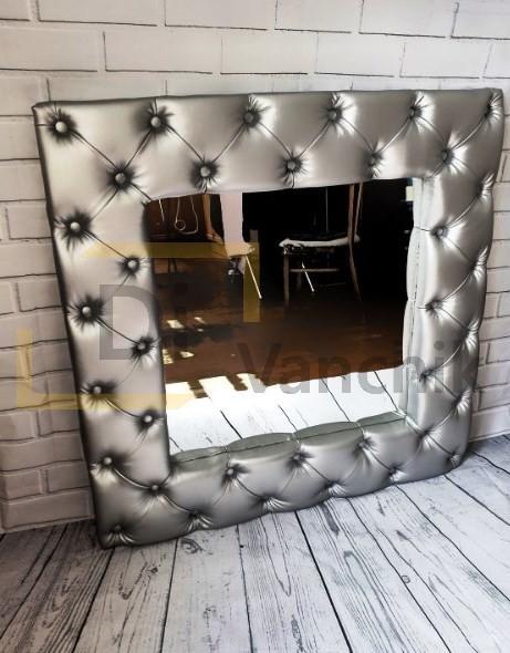 зеркало обшитое тканью под заказ