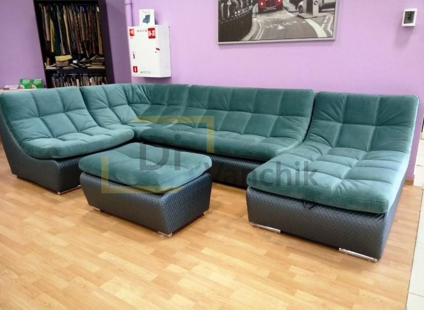крутой бирюзовый диван на заказ в Киеве