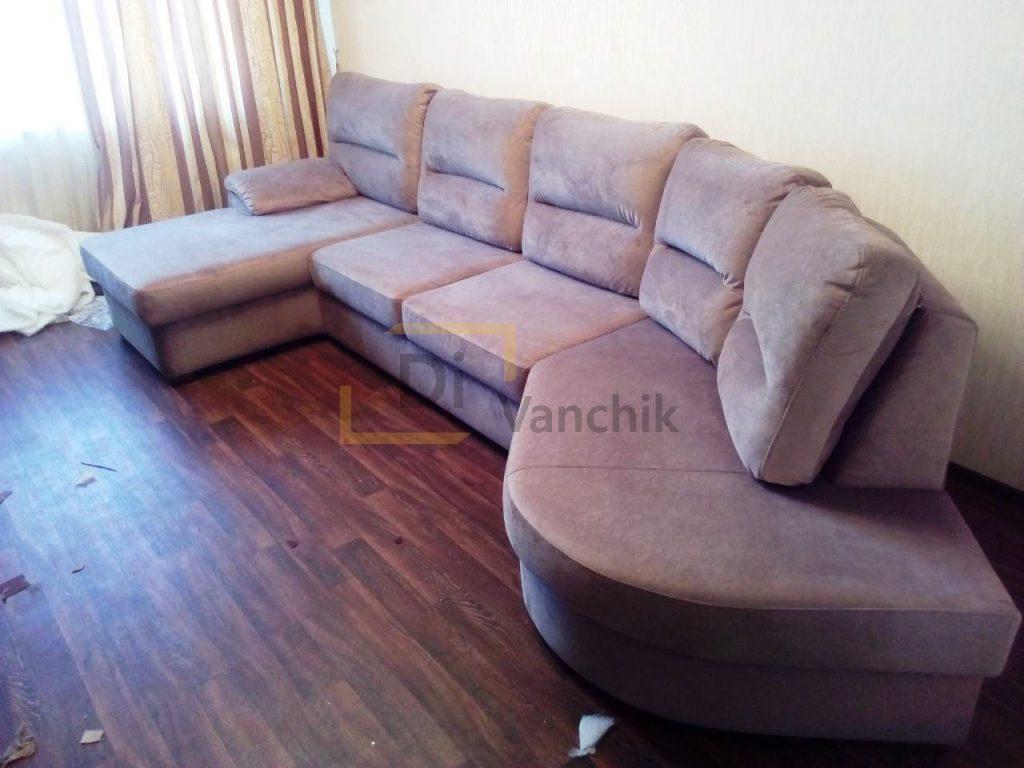 радиусный диван в гостиную на заказ252