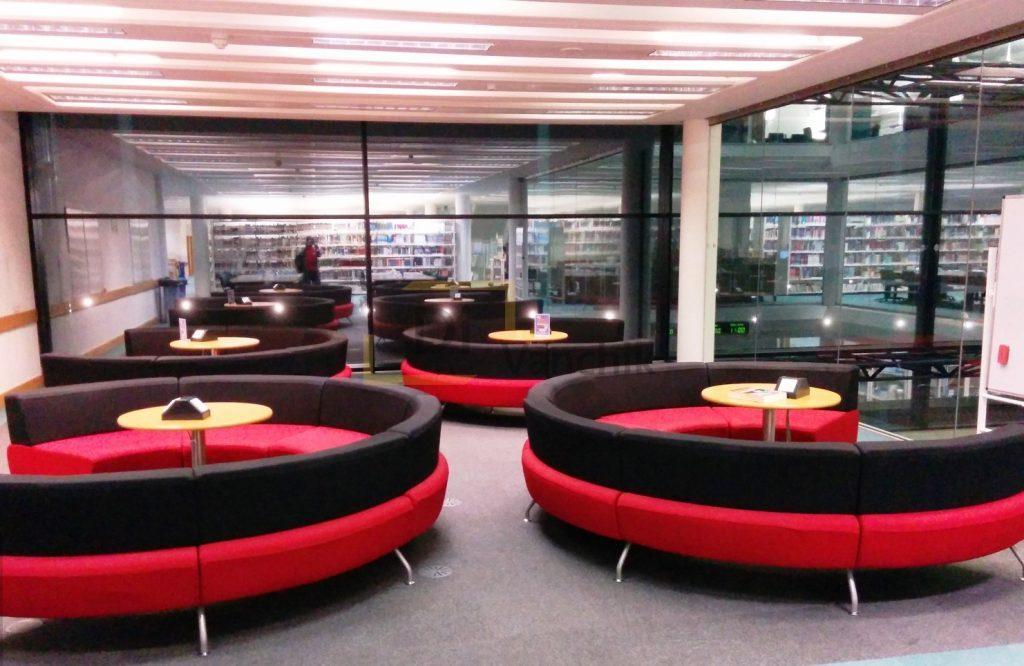 круглые диваны для офисного помещения