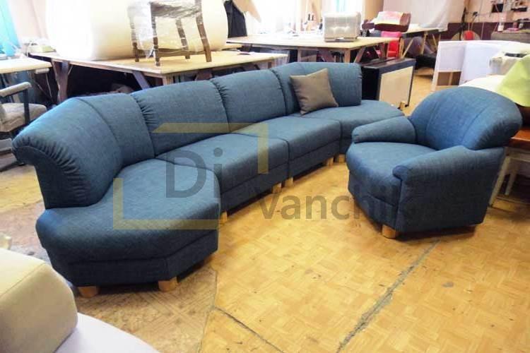 радиусный диван и кресло заказать Киев