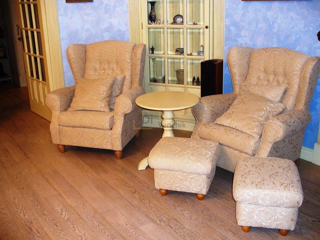 кресла с пуфиками для ног заказать