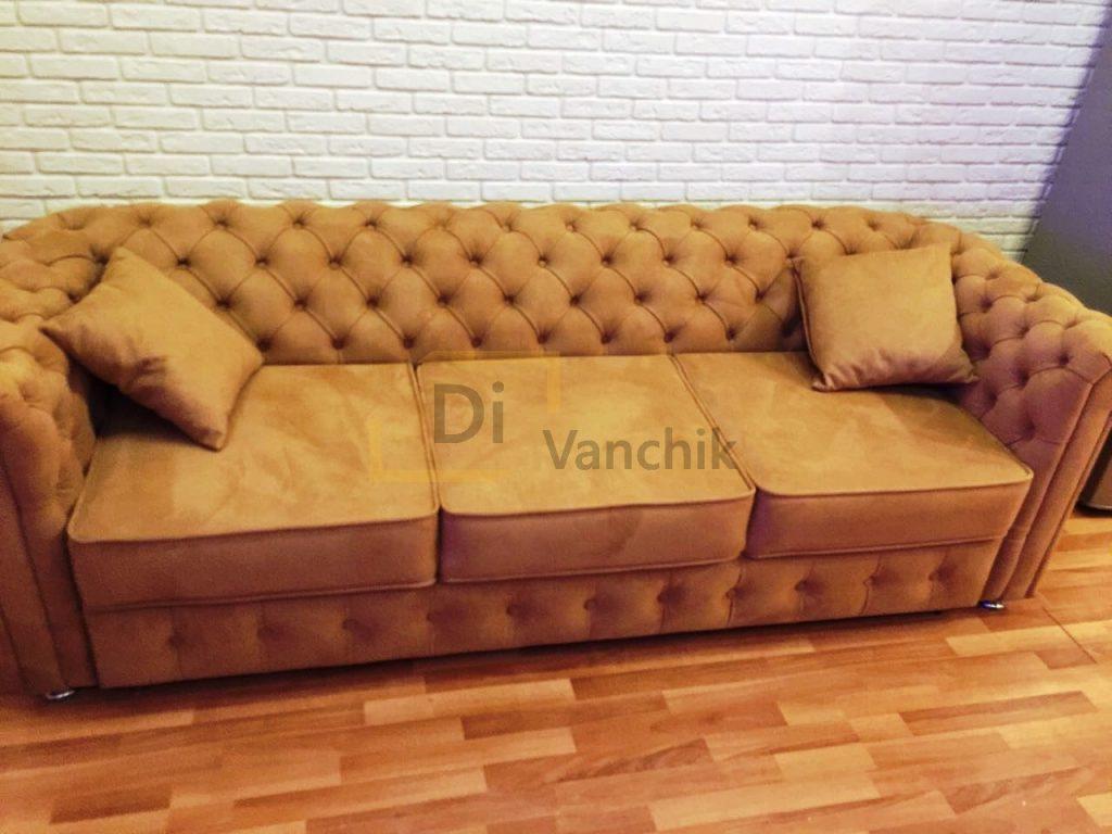 прямой диван честер политех