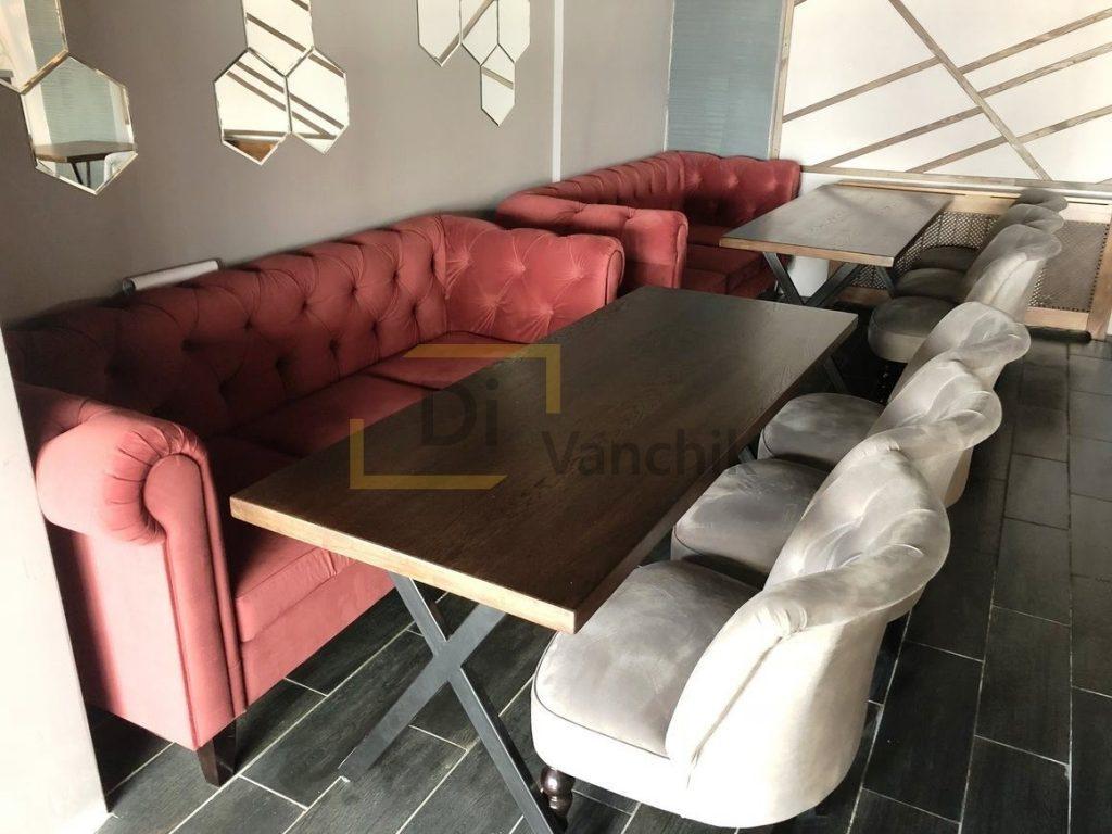 диваны и кресла в ресторан изготовление